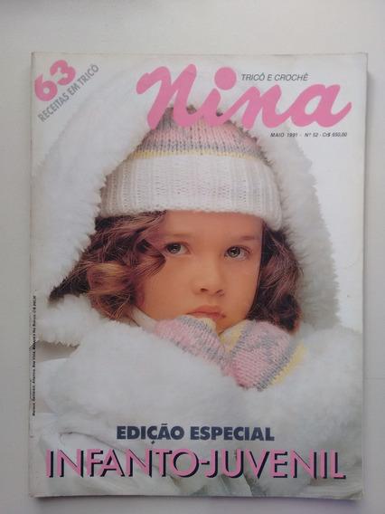 Revista Nina 63 Trico E Crochê Infanto Juvenil A423