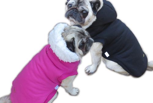 Imagem 1 de 10 de Roupa Cachorro/ Gato Inverno Frio Gorro - Casaco Com Forro