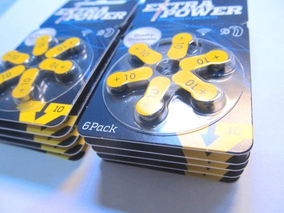 Pilhas Extra Power Auditiva Nº10 Aparelho De Audição 60 Und