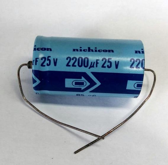 2 X Capacitor Eletrolítico Axial Nichicon 2200uf 25v Nos