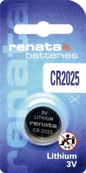 Bateria Lithium Renata Cr2025 - Caixa Com 10 Baterias