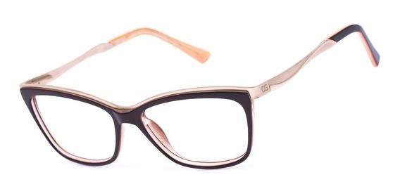 Armação Oculos Ogrife Og 987-c Feminino Com Lente Sem Grau
