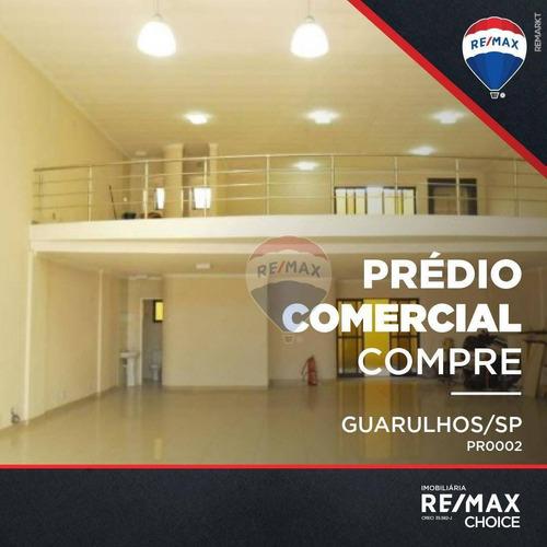 Prédio, 950 M² - Venda Por R$ 3.499.990,00 Ou Aluguel Por R$ 24.990,00/mês - Cidade Jardim Cumbica - Guarulhos/sp - Pr0002
