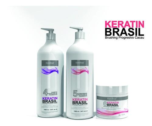 Shampoo Acondicionador Brushing Progresivo Cacao Brasil X3