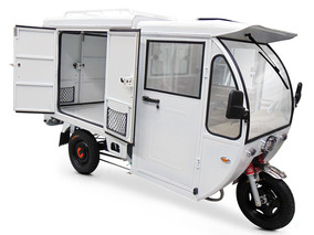 Motocarro Eléctrico R3 Caja Seca Motor 1200w Con Cabina