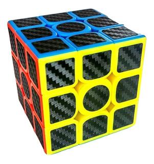 Cubo Rubik 3x3, Z Cobra Stickers Fibra De Carbono Lubricado