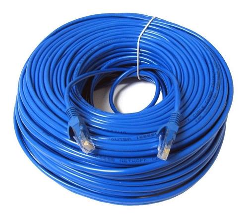 Cable De Red 30 Metros Armado Pc Módem Smart Cat.5e Azul