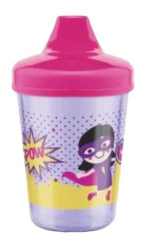 Copo Infantil 270ml Super Heróis Rosa - Lillo