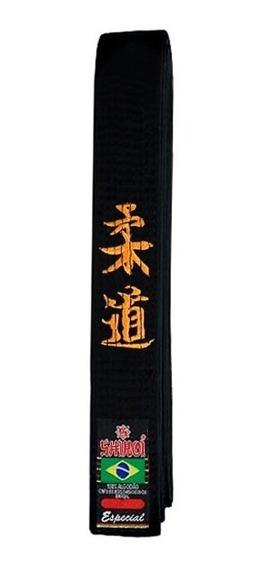Faixa Marrom Ou Preta Especial Bordada Judo Japones Shiroi