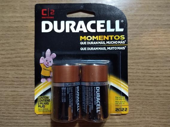 Pilha Duracell 1.5v Tipo C Média Kit Com 3 Cart. Com 2 Un.