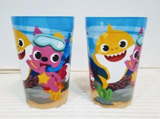 Vasos Baby Shark Tiburón Bebe Cotillones, Detalle, Regalo.