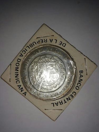 Primera Moneda Acuñada De La Hispaniola Siglo Xvi 10 Pesos.