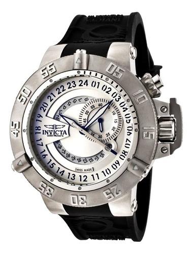 Relógio Masculino Original Calendário Esportivo Prata Grande