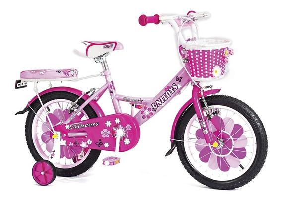 Bicicleta Infantil Aro 16 Feminina Princess C/ Acessórios