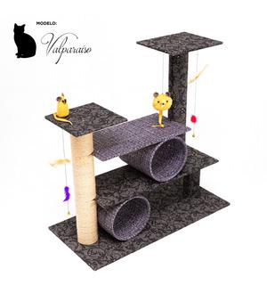 Rascadores Gimnasio Rascador Para Gatos 3 Pisos +2 Tubos -n5