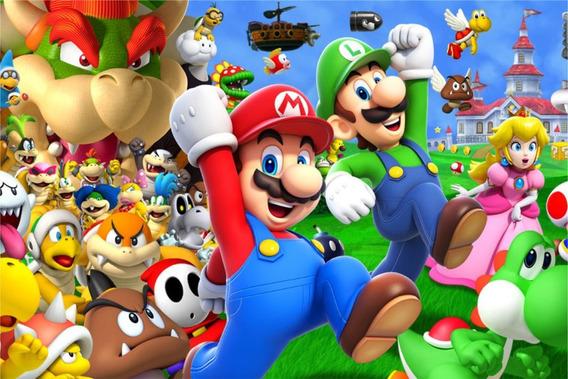 Painel Banner Decorativo Festa 2,0 X 1,50 Mario Bros
