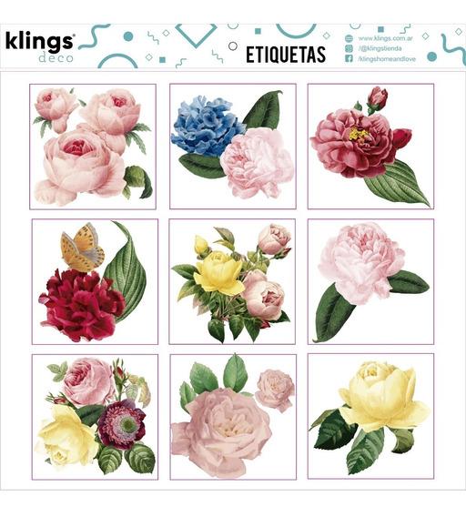 Etiquetas Para Frascos Botellas Frases Transparente Flores