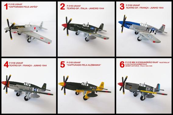 Miniatura Avião P-51 Pintado Mão Mustang Preço Para 3un