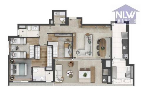 Apartamento Com 3 Dormitórios À Venda, 110 M² Por R$ 1.827.873,00 - Brooklin - São Paulo/sp - Ap1979