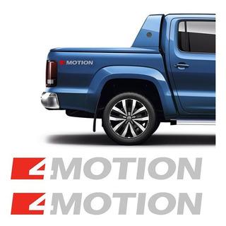 Adesivo Amarok 2017 4 Motion Emblema Prata Volkswagen