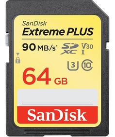Cartão Sandisk Sdxc Extreme Plus 64gb Uhd 4k Lacrado