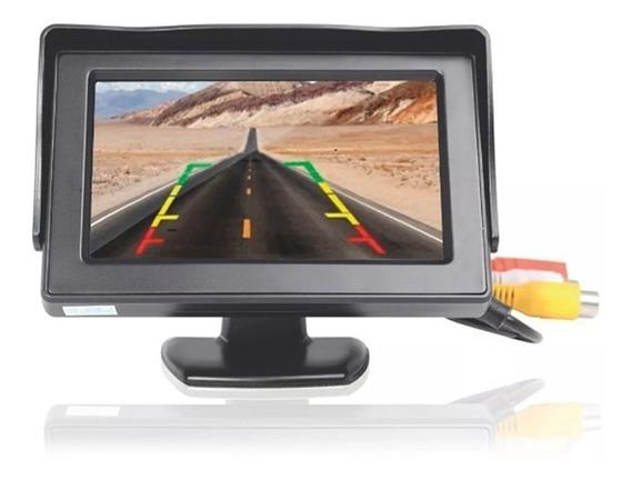 Monitor Lcd Tft 4.3 Automotivo Colorido P Câmera De Ré Fixa