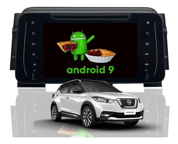 Central Multimidia Kicks Android 9.0 Gps Wifi Waze Dvd Tv