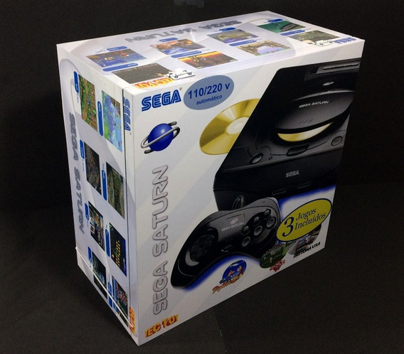 Caixa Vazia Sega Saturno Em Madeira Mdf