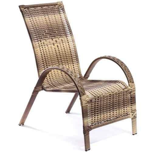 Imagem 1 de 2 de Poltrona Cadeira Junco Fibra Sintética Varanda Jardim