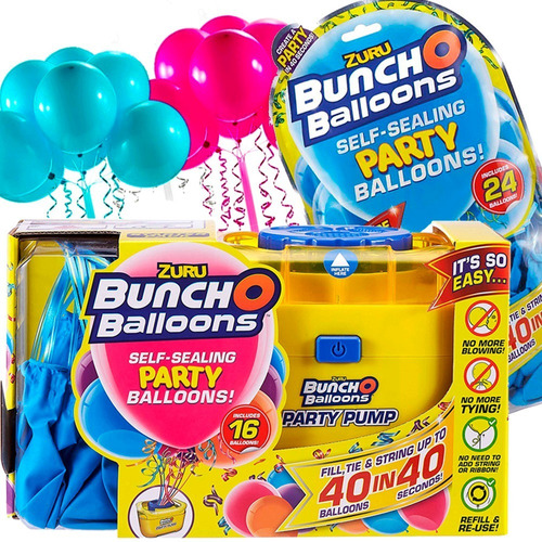 Kit Bomba Encher Bexigas Bunch Ballon + 40 Balões 500w 110v