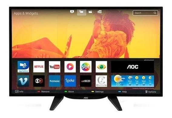 Smart Tv Led 32 Aoc Wifi + Nf-e / Frete Gratis /bem Embalada