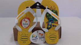 Sandalia Chinelo Havaianas Mascote Tom Olimpíadas Rio 2016