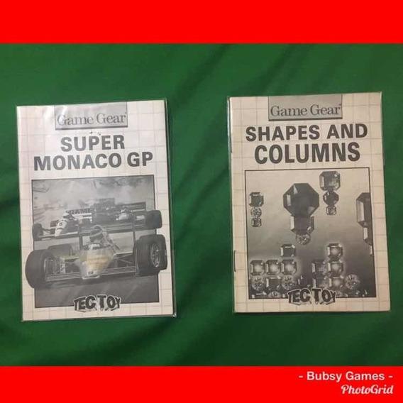 Game Gear Manual De Instruções Original