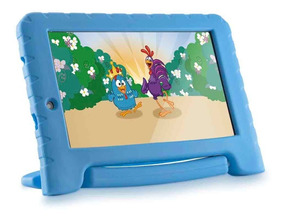 Tablet Infantil Com Capa Emborrachada Azul Youtube Netflix