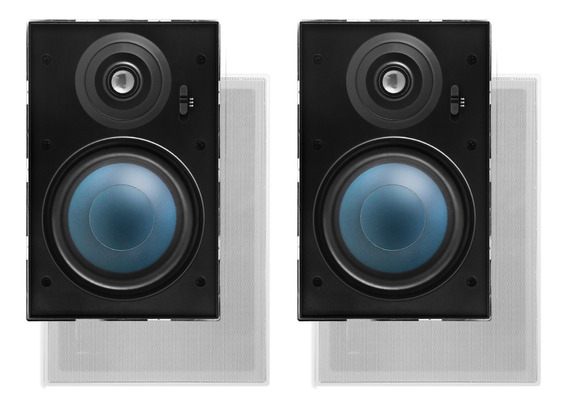 1 Par Caixa Acústica De Embutir 100w Aat Lr-e100