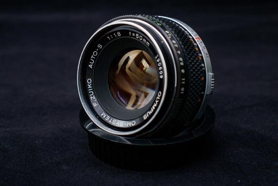 Lentes Olympus Zuiko Om 50 1.8+adaptador Canon Chip