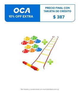 Set Escalera Entrenamiento + 10 Platos Fitnes Crazy Fit