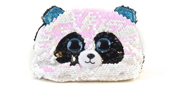Monedero Ty Animales Lentejuelas Panda 18cm