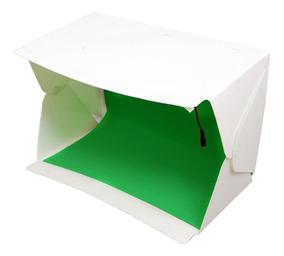 Mini Estúdio Fotográfico Portátil Evobox 58cm Iluminação Led
