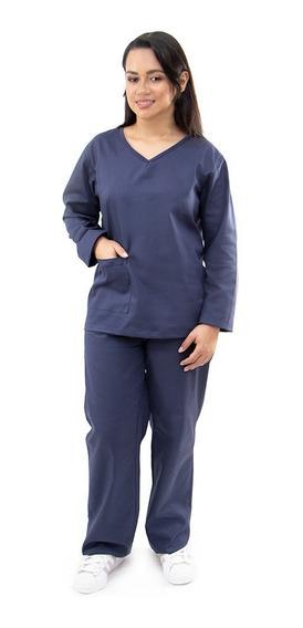 Pijama Uniforme Centro Cirúrgico Algodão Manga Longa