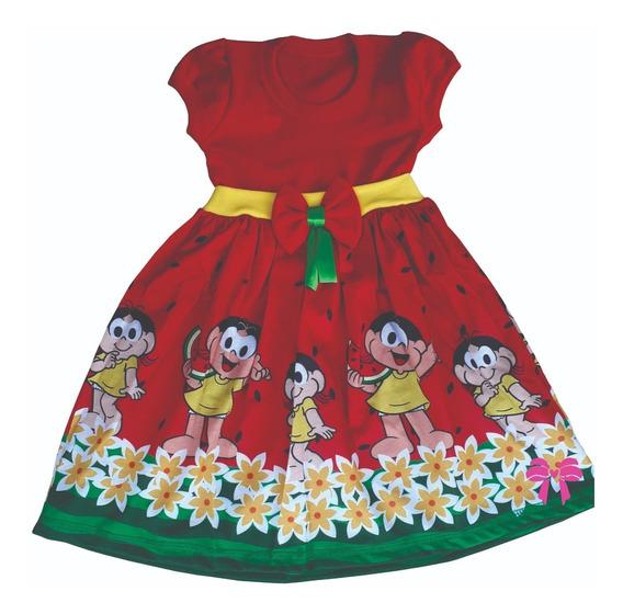Vestido Magali Turma Da Monica Personagem Festa Tematico