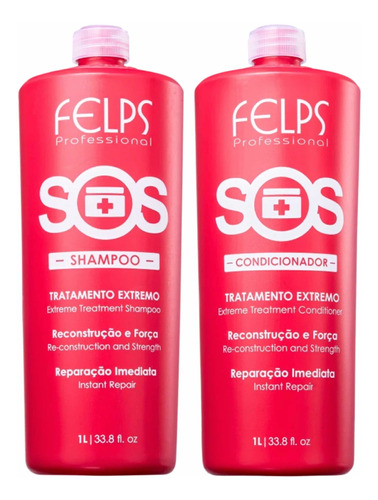 Felps Kit Duo Sos Shampoo + Condicionador 2x1l + Brinde