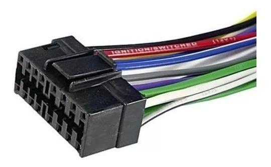 Chicote Radio Carro Sony Jvc Aiwa Conector Cd Plug Cd