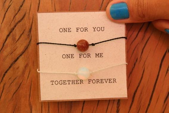 Pulseiras Together Forever Sol E Lua + Embalagem
