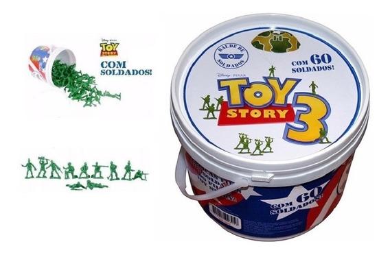 Balde Soldadinho Toy Story Com 60 Soldados - Toyng