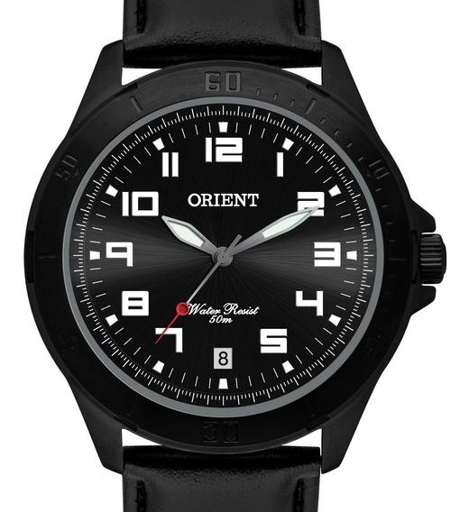 Relógio Orient Masculino Couro Preto Mpsc1008 P2sx