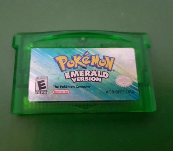 Pokémon Emerald Fita Original Americano Gravando Normalmente