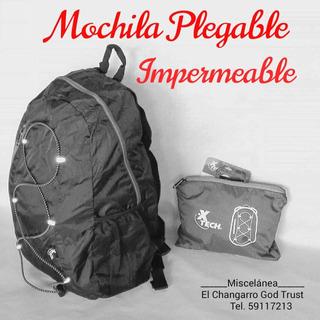 Mochila Plegable Impermeable.