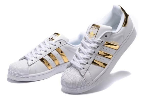 adidas Superstar Blanco Oro/dorado Originals Envio Gratis