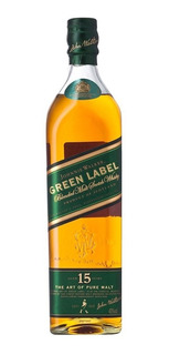 Whisky Johnnie Walker Green Label De Litro Botella Antigua